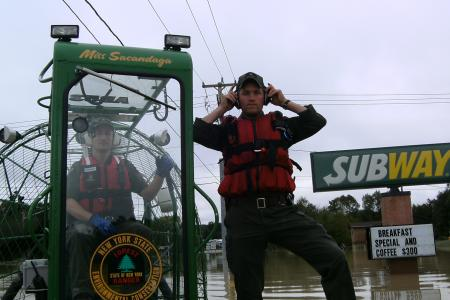 Rescue ops during tropical storm lee